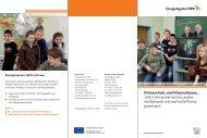 Flyer zum Wettbewerb - Schule der Zukunft
