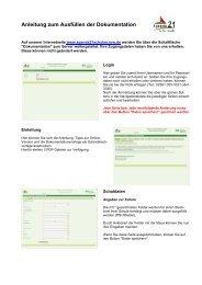 Anleitung für die Onlinedokumentation - Schule der Zukunft