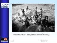 Wasser für alle – eine globale Herausforderung - Schule der Zukunft