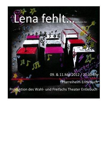 09. & 11.Mai 2012 / 20.00 Uhr Pfarreiheim ... - Schule Entlebuch