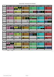 Schule Heiden - Stundenplan Dorf 2013/2014