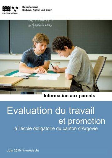 Evaluation du travail - Schule Möriken-Wildegg