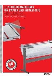 Papierschneidemaschinen IDEAL - AG für Schule & Raum