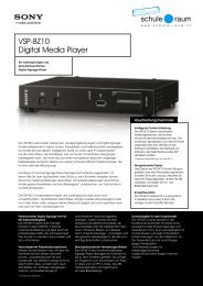 Digital Media Player SONY - AG für Schule & Raum
