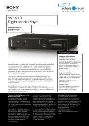 Digital Media Player SONY - AG für Schule & Raum