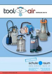Pumpen TOOL-AIR - AG für Schule & Raum