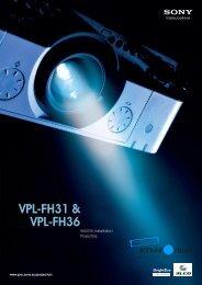 VPL-FH31 & VPL-FH36 - AG für Schule & Raum