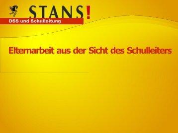 DSS und Schulleitung - schule online - stans!