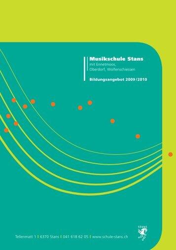 Musikschule Stans - schule online - stans!