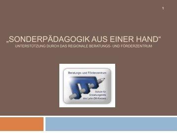 3. Auf dem Weg zur Inklusion: Förderkonzept einer Haupt - Schule ...