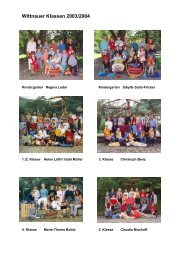Wittnauer Klassen 2003/2004 - Schule Wittnau