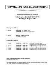 WITTNAUER SCHULNACHRICHTEN - Schule Wittnau
