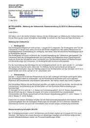 Diverse Mitteilunen Schulleitung, 29. April 2013 - Schule Wittnau