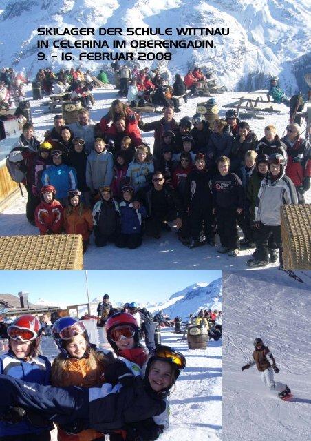 Impressionen vom Skilager der Schule Wittnau in Celerina