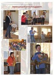 Instrumentenschnuppern, 3. März 2011 - Schule Wittnau