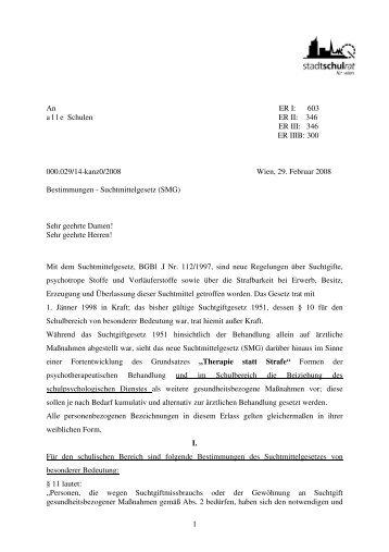 Suchtmittelgesetz (SMG) - Schule.at