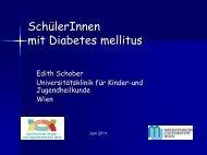 SchülerInnen mit Diabetes mellitus - Schule.at