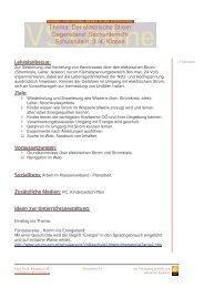 Thema: Der elektrische Strom Gegenstand: Sachunterricht ...