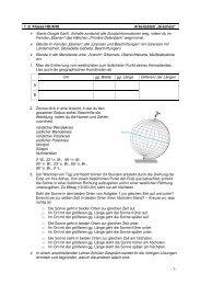"""- 1 - 1./2. Klasse HS/AHS Arbeitsblatt """"Gradnetz"""" Starte Google Earth ..."""