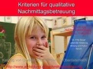 Kriterien für qualitative Nachmittagsbetreuung - Schule.at