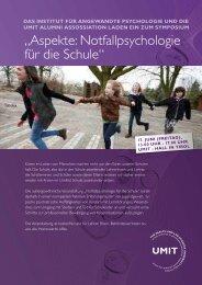 """""""Aspekte: Notfallpsychologie für die Schule"""" - Schule.at"""