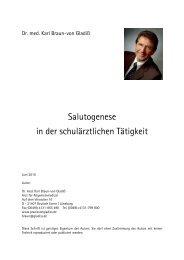 Salutogenese in der schulärztlichen Tätigkeit - Schule.at