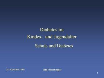 Diabetes im Kinder und Jugendalter - Schule.at