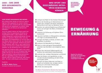 BEWEGUNG & ERNÄHRUNG - Schule.at