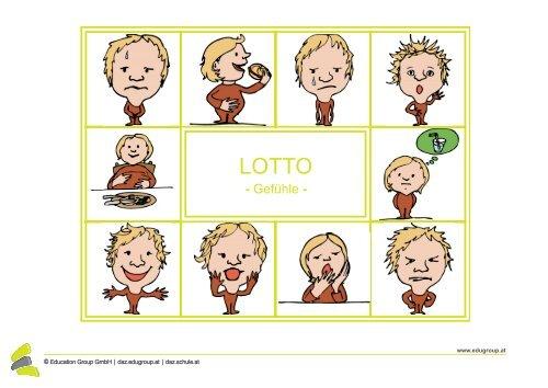 Lotto - Wort & Bild: Gefühle - Schule.at