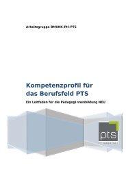 Kompetenzprofil für das Berufsfeld PTS - Schule.at