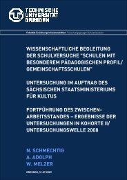 WISSENSCHAFTLICHE BEGLEITUNG - Schule und Ausbildung
