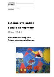 Evaluationsbericht: Externe Evaluation durch die DVS - Schule ...