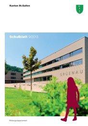 Schulblatt 9/2013 - schule.sg.ch - Kanton St.Gallen
