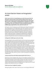 Am Kanti-Standort Wattwil soll festgehalten werden - schule.sg.ch