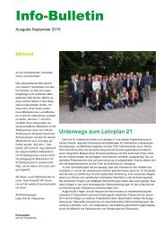 Info-Bulletin 2013 September - schule.sg.ch - Kanton St. Gallen