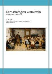 Lehrerweiterbildung Lernstrategien - schule.sg.ch