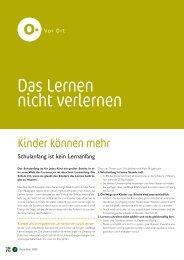 Das Lernen nicht verlernen - Kindergarten und Schule in Südtirol