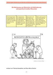 Die Betreuung von Menschen mit Behinderung und psychisch ...