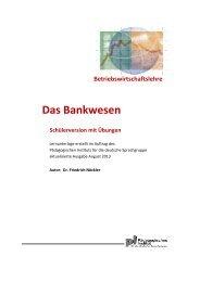 Bankwesen - Kindergarten und Schule in Südtirol