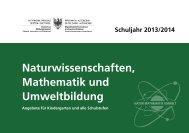 Naturwissenschaften, Ma the matik und Umweltbildung - Bereich ...