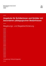 und Begabtenförderung - Schule Winterthur