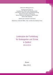 Landesplan der Fortbildung 2013/2014 - Kindergarten und Schule ...