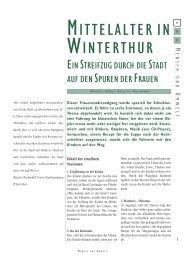 MITTELALTER IN WINTERTHUR - Schule Winterthur