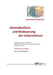 Jahresabschluss - Besteuerung - Kindergarten und Schule in Südtirol