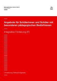 Integrative Förderung - Primarschule Bonstetten Online