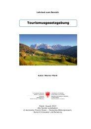 Tourismusgesetzgebung - Kindergarten und Schule in Südtirol