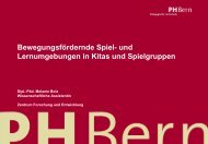 Bewegungsfördernde Spiel- und ... - Schule Winterthur