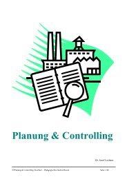 Betriebliche Planung und Controlling