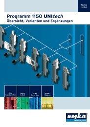 Schwenkgriff-Programm 1150 Unitech - EMKA Beschlagteile