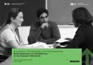 Bewertungsraster zur Schulführung an der Aargauer Volksschule